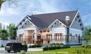 Thiết kế biệt thự vườn 1 tầng siêu đẹp BT18558