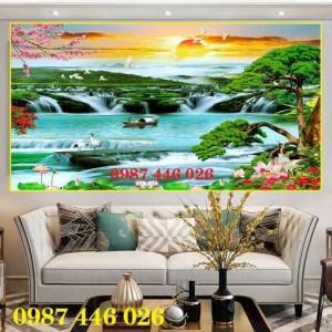 Tranh gạch thiên nhiên thác nước HP389