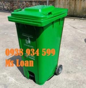 Thùng rác đạp chân 240 lít màu xanh lá