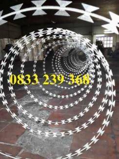 Dây kẽm lam, dây thép gai hình dao, dây gai lam giá rẻ tại Sài Gòn