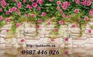 Tranh Gạch Men Vườn Hoa Ốp Tường Trang Trí Hp3790