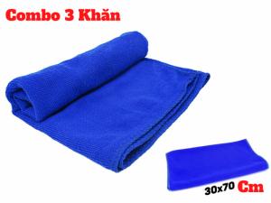 Combo 3 Khăn Lau Đa Năng 30x70cm, Lau Xe, Lau Bếp, Lau Đồ Dùng - Cb3kl3070