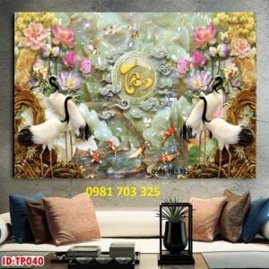 Gạch Tranh 3d Chim Hạc