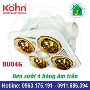 Đèn Sưởi Nhà Tắm Âm Trần Kohn Bu04g