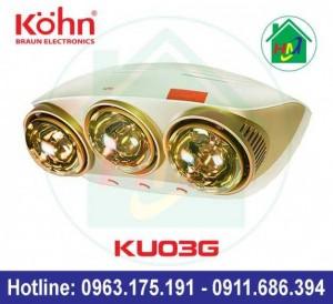 Đèn Sưởi Treo Tường Nhà Tắm Kohn Ku03g