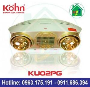 Đèn Sưởi Nhà Tắm Kohn Ku02pg Kèm Quạt Thổi Gió Nóng
