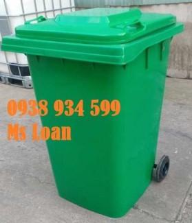 Thùng rác 360 lít, thùng rác nhựa 360l, thùng rác công cộng 360l