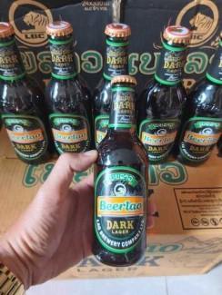 Bia Lào Đen 330ml, 24 Chai 6,5% Cồn.