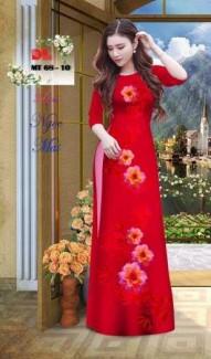 Vải Áo Dài Hoa Đẹp Mt68 Của Vải Áo Dài Kim Ngọc - Vải Lụa Ngọc Mai Cao Cấp