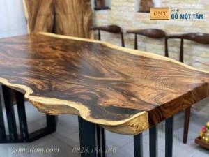 Mặt bàn gỗ me tây nguyên tấm dài 1,97m