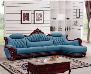 Nhận sản xuất sofa cổ điển chữ L nhỏ gọn cho phòng khách của chung cư cao cấp
