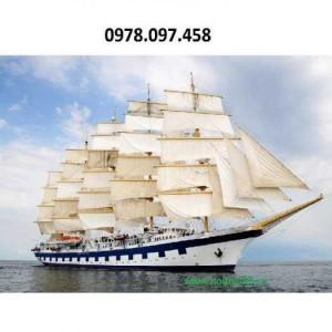 Tranh thuyền buồm xuôi gió- tranh gạch men 3D