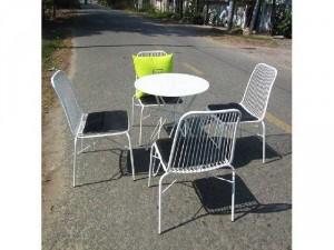 Bàn ghế sắt cafe ngoài trời giá rẻ