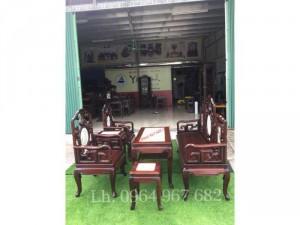 Bộ Ghế Móc Mỏ Tàu 6 món bàn ghế đẹp gỗ gụ