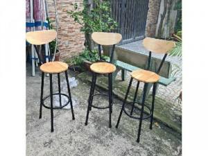 Ghế quầy bar giá rẻ ghế sắt gỗ