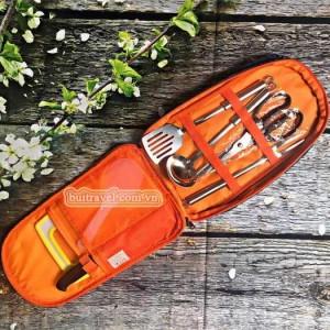 Bộ dụng cụ nấu ăn dã ngoại có túi đựng FT2412