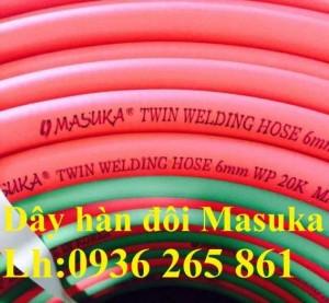 Dây hơi đôi Masuka dẫn khí gas, oxy phi6, phi8 hàng nhập khẩu giá rẻ