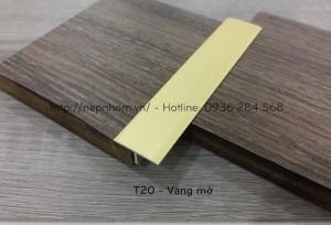 Nẹp nhôm T20mm, nẹp nối sàn gỗ tại Bắc Ninh