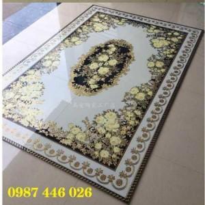 Gạch thảm trang trí phòng khách hoa văn HP7232