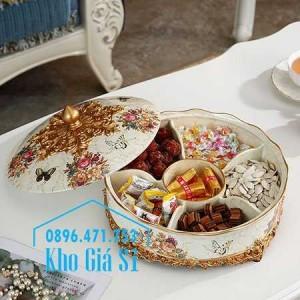 Khay hộp 6 ngăn cao cấp nhập khẩu đựng mứt kẹo bánh ngày tết - Quà tặng ý nghĩa dịp tết 2021