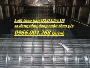 Chuyên sản xuất lưới thép hàn D3,D4,D5,D6,D8,D10 theo yêu cầu giá cạnh tranh