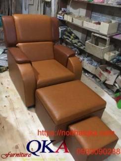 Mẫu ghế massage chân bọc da