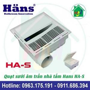 Quạt Sưởi Nhà Tắm Hans HA-S