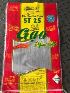 Bao bì nhựa  đựng gạo có in