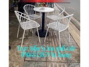Bộ bàn ghế cafe sắt đẹp giá xưởng