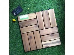 Sàn gỗ tự nhiên lót ban công, sân vườn