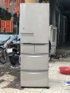 Tủ lạnh HITACHIR-K42D 415L, R600a, Date 2014 Màu nâu rất sang, đầy đủ công nghệ: INVETER + Frost recycle + ECONAVI