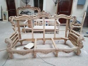 Thanh lý khung ghế sofa cổ điển, khung giường cổ điển châu âu giá rẻ tại hóc môn, q12, Bình dương
