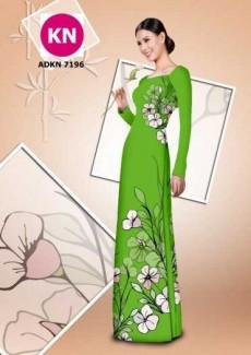 Vải bộ áo dài in đẹp KN7196 (vải áo và vải quần )