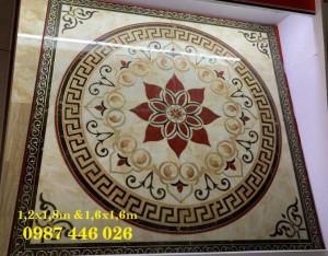 Gạch thảm trang trí, chiếu nghỉ vuông phòng khách HP2255