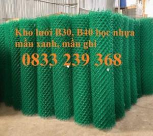 Lưới thép hàng rào B40 bọc nhựa khổ 2,4m, Lưới làm sân tennis, Sân bóng đá mini