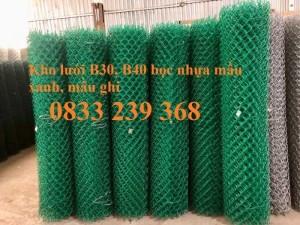 Lưới thép B40 mạ kẽm và bọc nhựa ô 50x50, 60x60 khổ 2m, 2,2m