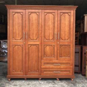 Tủ quần áo gỗ tự nhiên giá rẻ