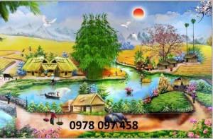 Tranh 3D - tranh gạch phong cảnh quê hương