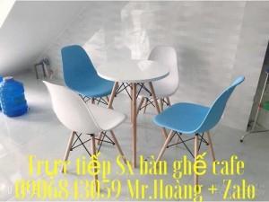 Ghế nhựa chân gỗ giá xưởng  - Nội Thất Nguyễn Hoàng