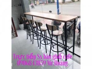 Ghế bar khung sắt mặt gỗ giá xưởng - Nội Thất Nguyễn Hoàng