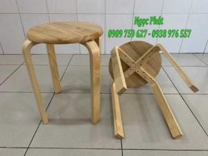 Ghế đẩu - Ghế gỗ chân dẹp - Ghế đôn gỗ - Ngọc Phát