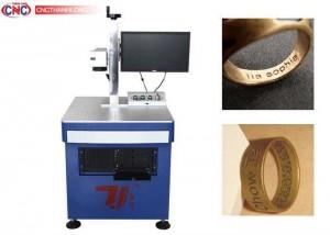 Máy laser fiber mini chuyên khắc kim loại , tốc độ cực nhanh