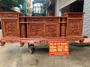 Kệ Tivi Cột Nho Gỗ Hương Đá