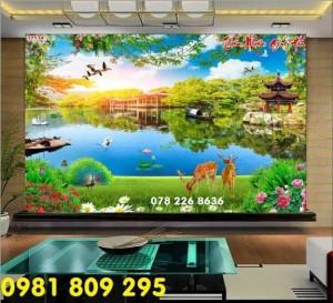 Tranh 3d phong cảnh thiên nhiên - gạch tranh 3d