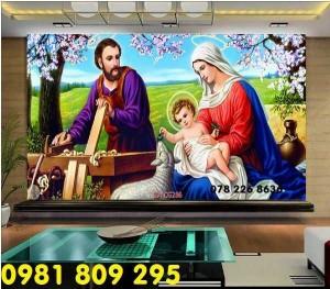 Thiên chúa 3d - gạch tranh 3d công giáo dán tường