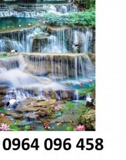 Tranh gạch phong thủy thác nước chảy - CB54