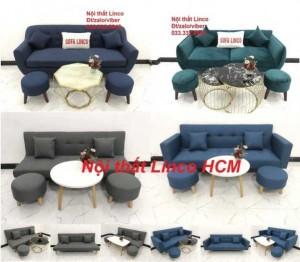 Bộ ghế sofa bed, sofa giường, sofa băng giá rẻ Nội thất Linco HCM Tphcm Sài Gòn Gò Vấp