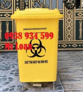 Thùng rác 60 lít, thùng rác y tế 60 lít, thùng rác y tế đạp chân 60 lít