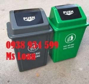 Thùng rác nắp bập bênh 60l, thùng rác nhựa 60 lít