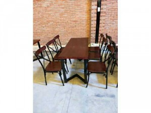 Ghế sắt gỗ ghế chữ X giá rẻ